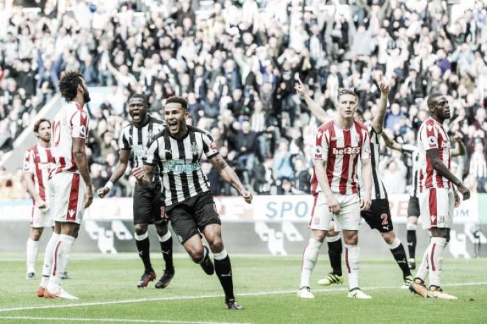 Newcastle faz dever de casa, bate Stoke City e entra no G-4