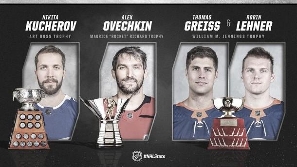 Kucherov se queda con el Art Ross y Ovechkin el Rocket Richard