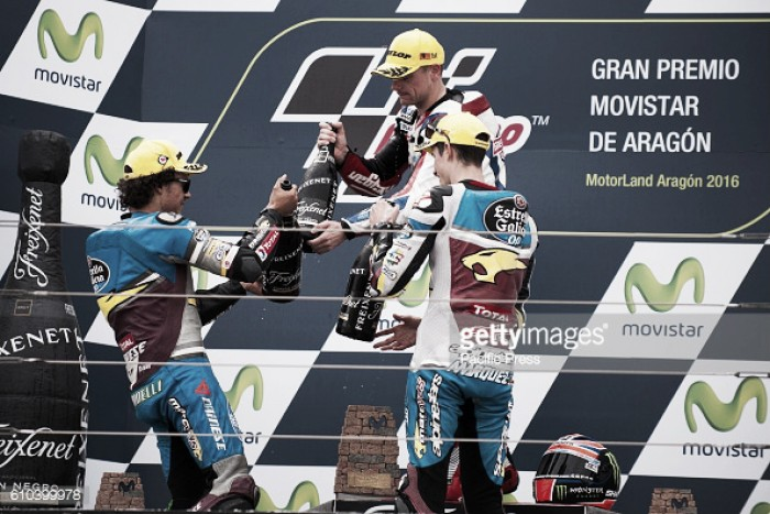 Lowes wins in Aragon as the Moto2 championship gets tighter