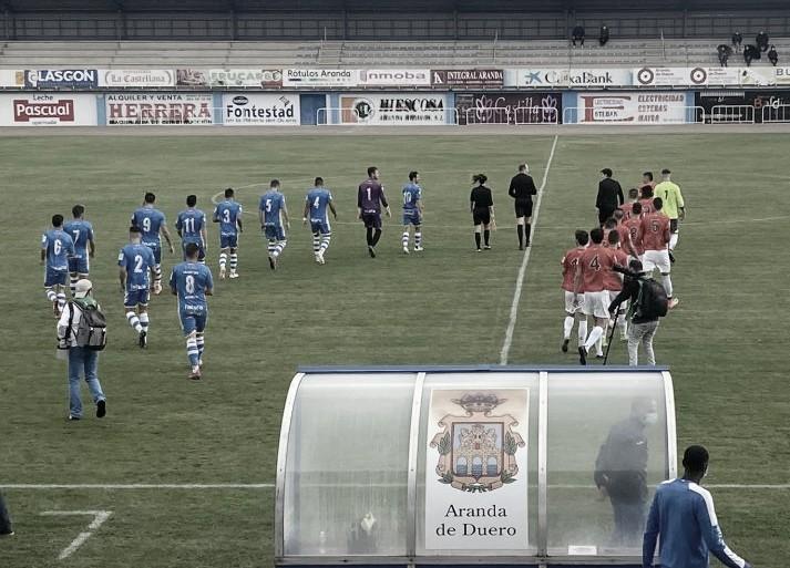 La Arandina en su amistoso frente al Real Burgos | Foto: Burgos Deporte