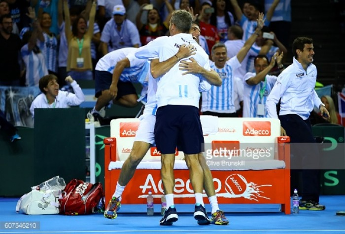 Argentina beat Great Britain in Davis Cup classic