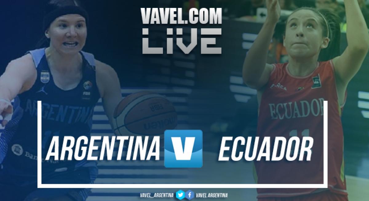 Resumen Argentina 74 vs 41 Ecuador en directo online en el Sudamericano Femenino