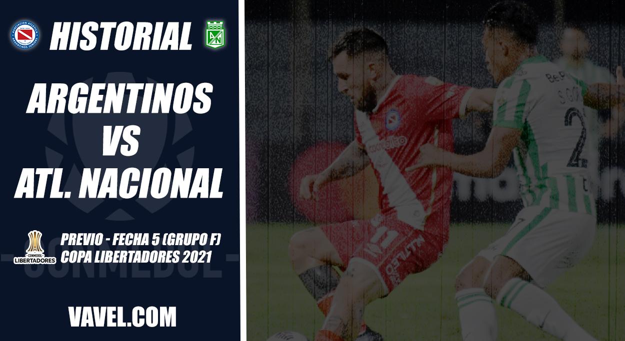 Historial Argentinos Juniors vs. Atlético Nacional: números escritos en verde