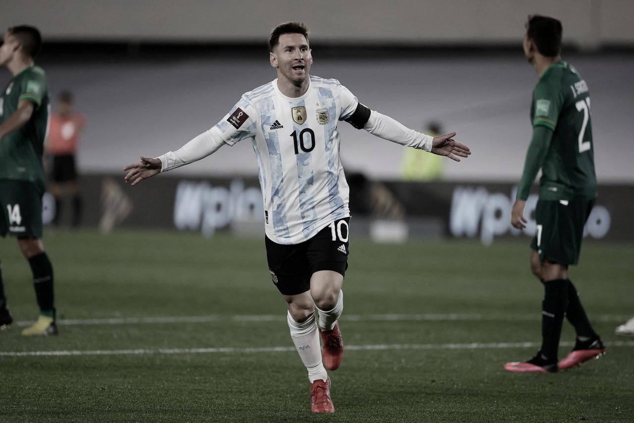 Messi impone el juego en la goleada de Argentina