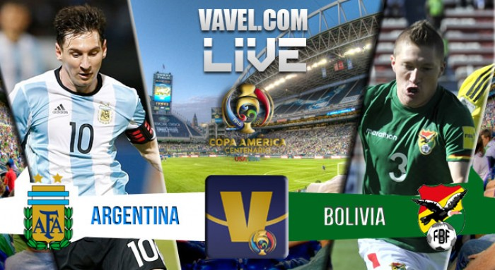 Argentina vence a Bolivia por 3-0 y pasa a cuartos de final