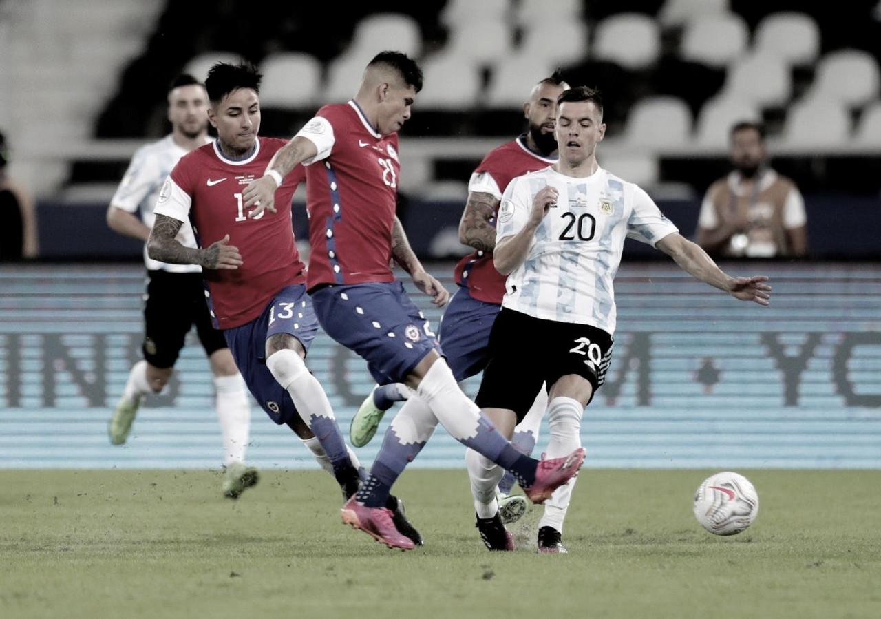 Argentina y Chile vuelven a empatar en su debut por Copa América