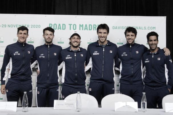 Argentina fue presentada oficialmente para disputar la serie de Copa Davis ante Colombia