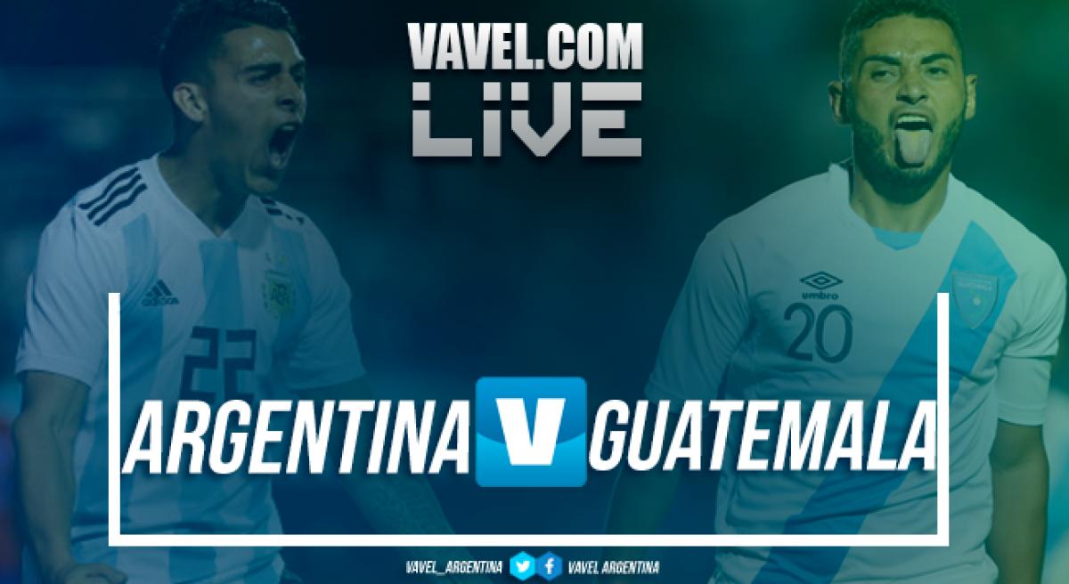 Resumen Argentina 3-0 Guatemala en Amistoso Internacional