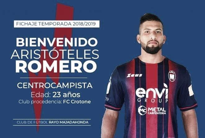 El centrocampista Aristóteles Romero: nuevo jugador del Rayo Majadahonda