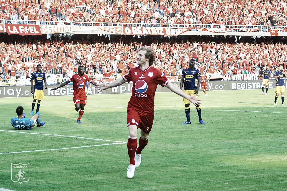 Datos de la victoria de América 3-0 sobre Medellín