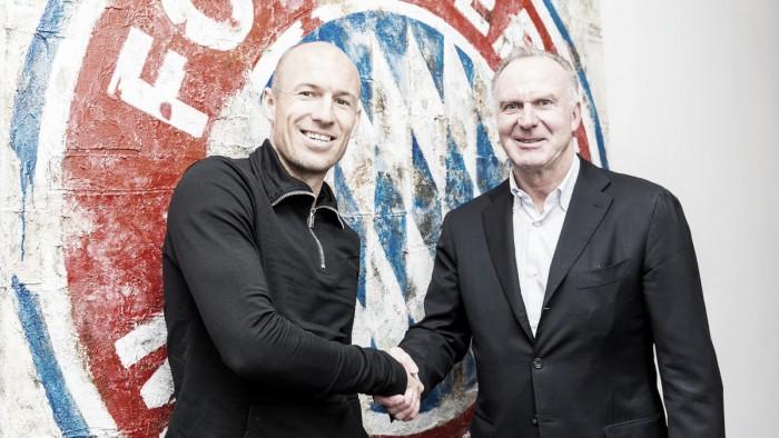Bayern de Munique renova com Arjen Robben por mais uma temporada