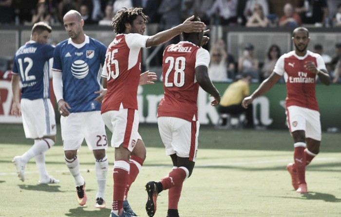 Arsenal vence amistoso e se torna primeiro time de Londres a bater Estrelas da MLS