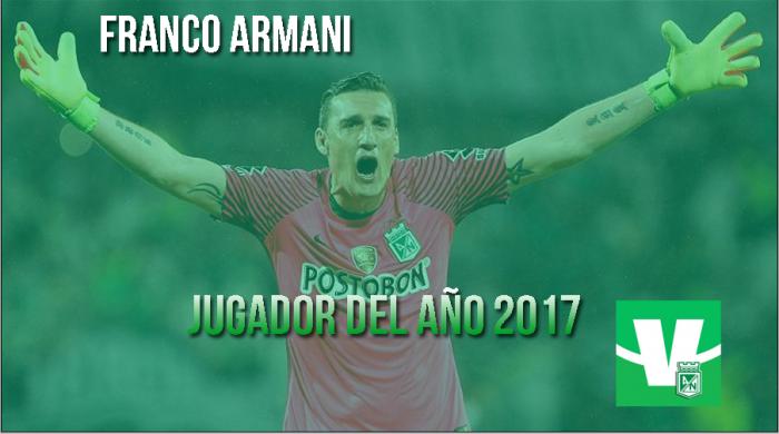 Franco Armani, el jugador del 2017 en Atlético Nacional