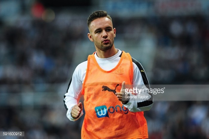 """Adam Armstrong insists he will be """"raring to go"""" when he returns to Newcastle United"""