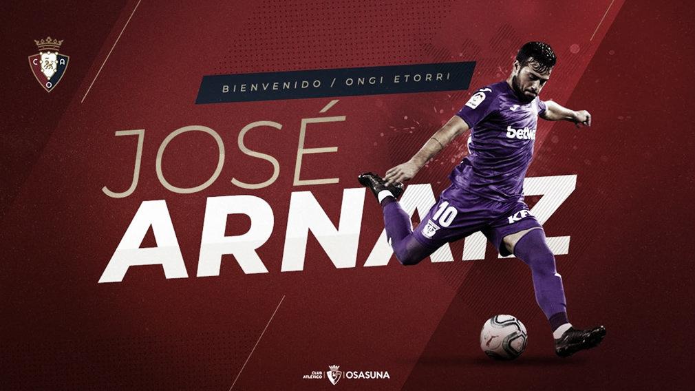 José Arnaiz llega cedido al CA Osasuna
