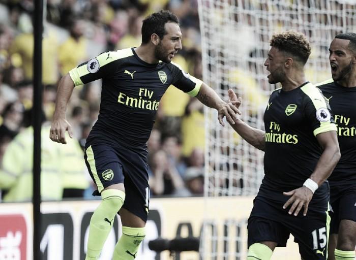 Arsenal constrói vantagem no primeiro tempo, bate Watford e conquista primeira vitória na PL