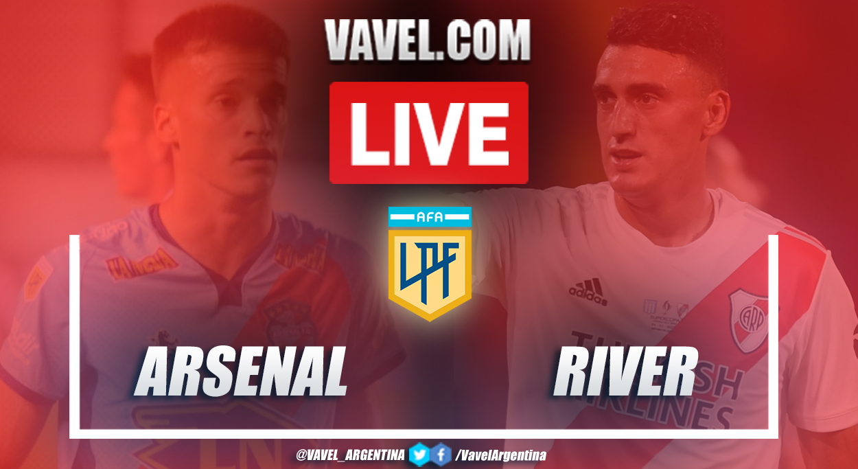 Resumen Arsenal vs River (0-0) en la fecha 8 por la Copa de la Liga Profesional Argentina