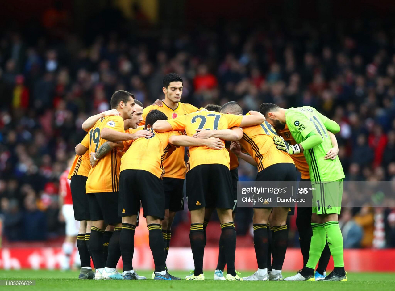 Wolverhampton Wanderers at the Emirates Stadium the 2nd November 2019 ((Photo by Chloe Knott - Danehouse/Getty Images).