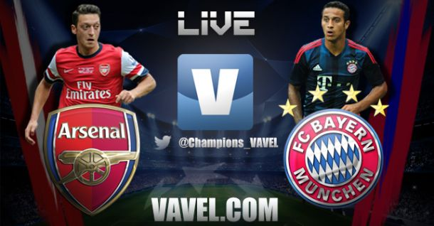 Diretta partita Arsenal - Bayern Monaco in Champions League
