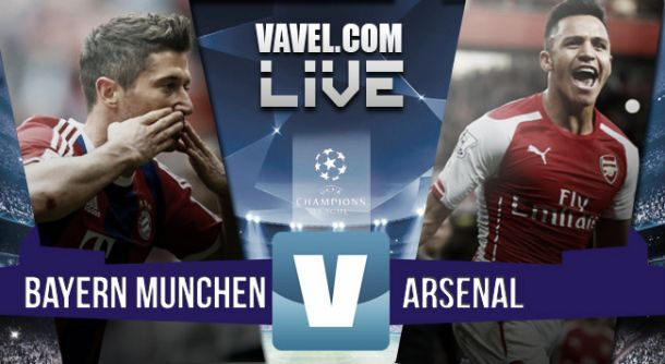 Result Bayern Munich - Arsenal in Champions League 2015 (5-1)