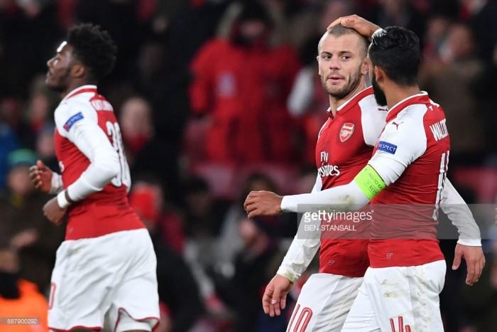 Arsenal 6-0 BATE Borisov: Gunners run rampant to finish Europa League group stage on a high