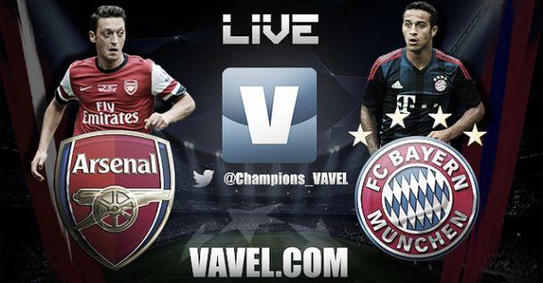 Resultado Arsenal - Bayern Múnich en la Champions League 2014 (0-2)