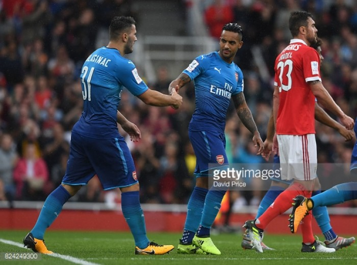 Arsenal 5-2 Benfica: Gunners begin Emirates Cup campaign with a thumping win