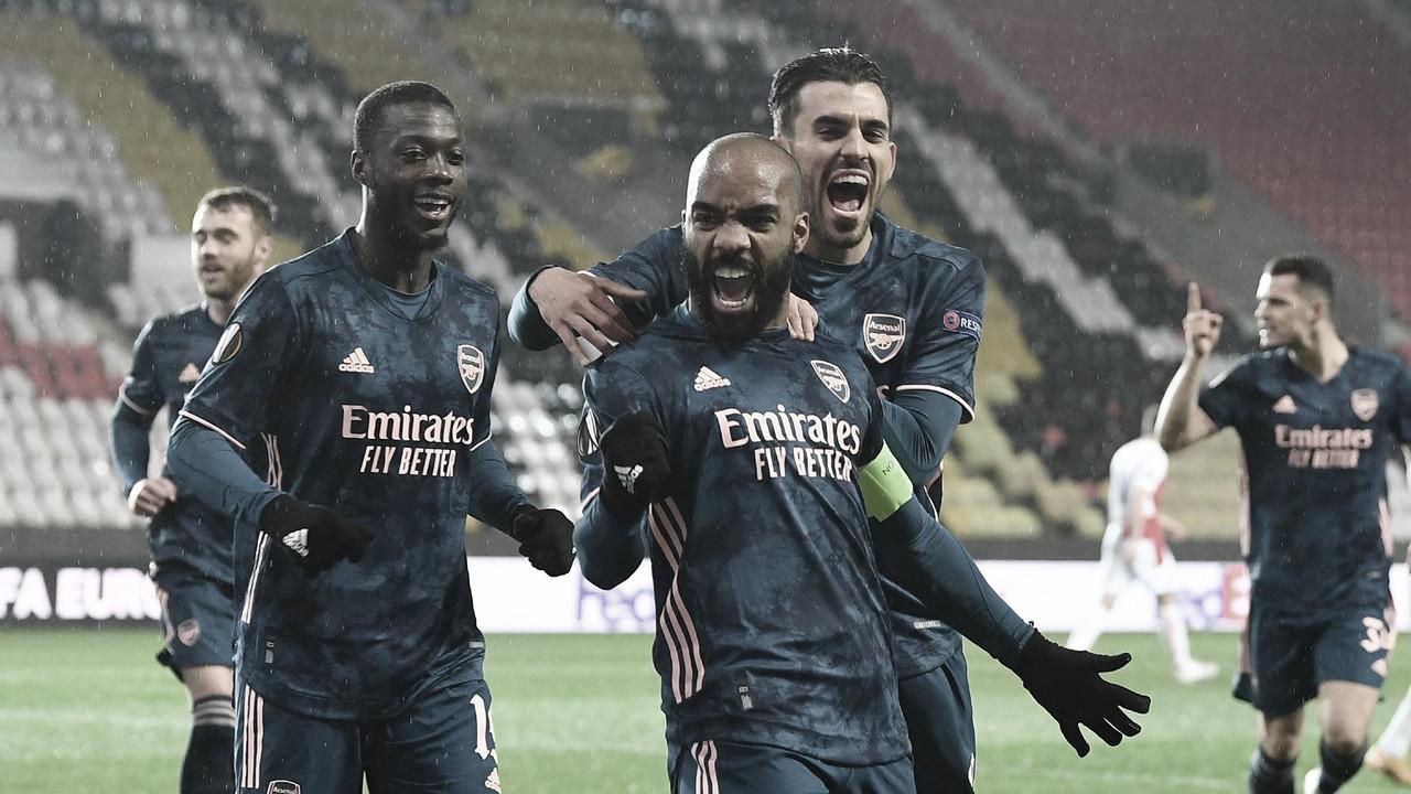 Arsenal goleia Slavia Praha e está nas semis da UEFA Europa League