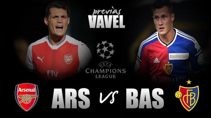 Arsenal e Basel medem forças em confronto direto pela liderança do Grupo A