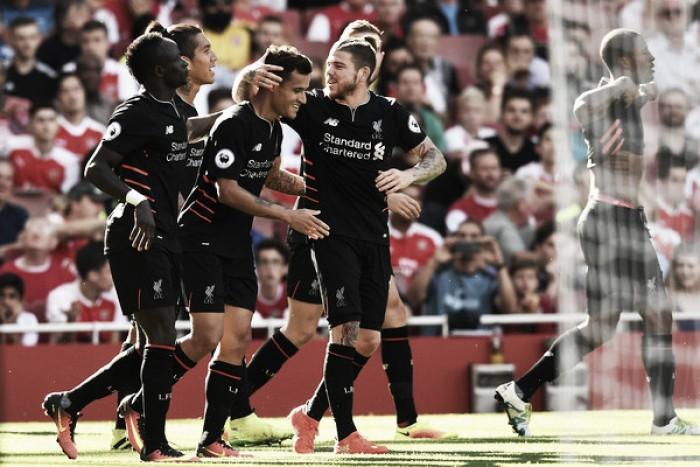 Coutinho brilha, Mané faz pintura e Liverpool vence Arsenal em jogo de sete gols