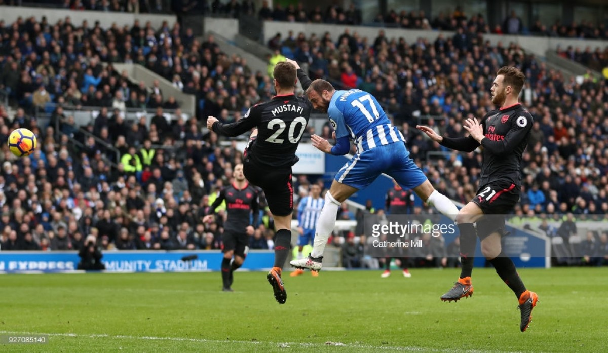 Brighton 2-1 Arsenal: Seagulls move further above the drop zone with win over struggling Gunners - as it happened