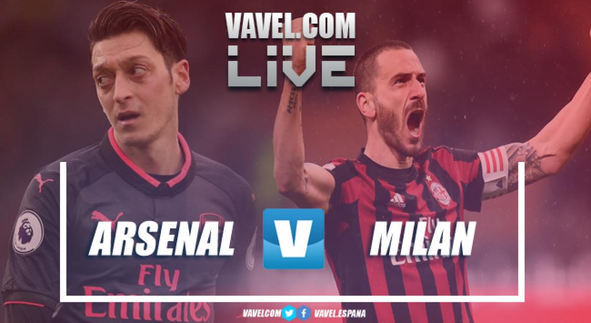 Resultado Arsenal x Milan pela Europa League (3-1)