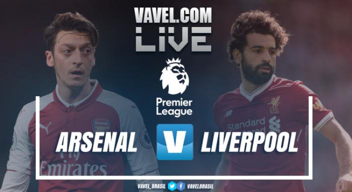 Resultado Arsenal x Liverpool pela Premier League (3-3)