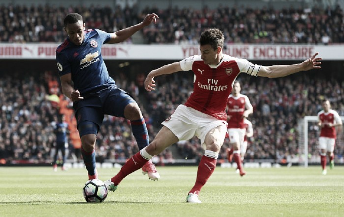 Manchester United foi a Londres vencer o Arsenal