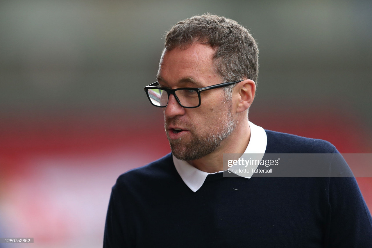 Dave Artell has led Crewe to within one point of the play-off spots in League One in their first season back | Photo by Charlotte Tattersall - Getty Images