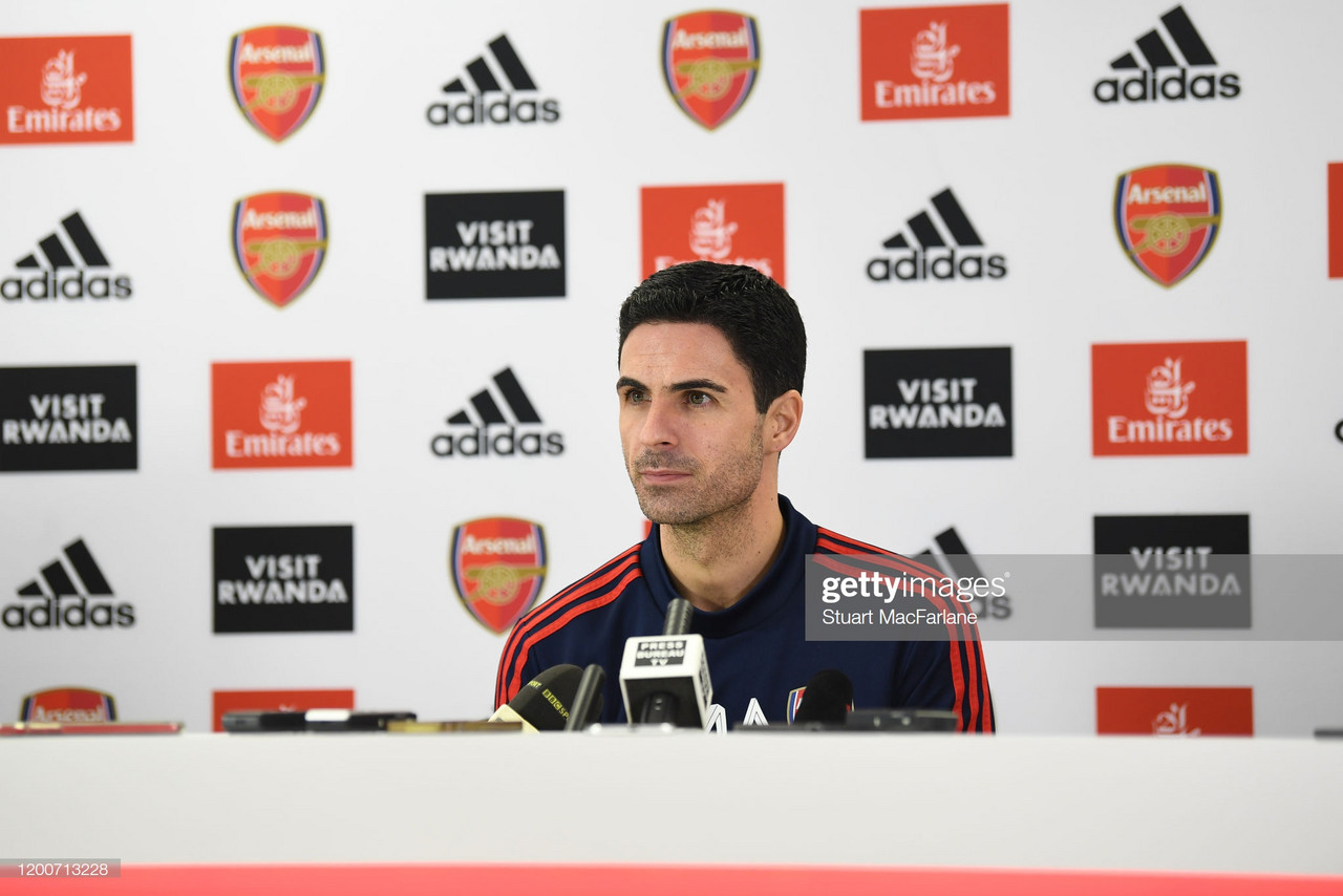 Arsenal boss Mikel Arteta wants to get back to 'winning' ways against Newcastle