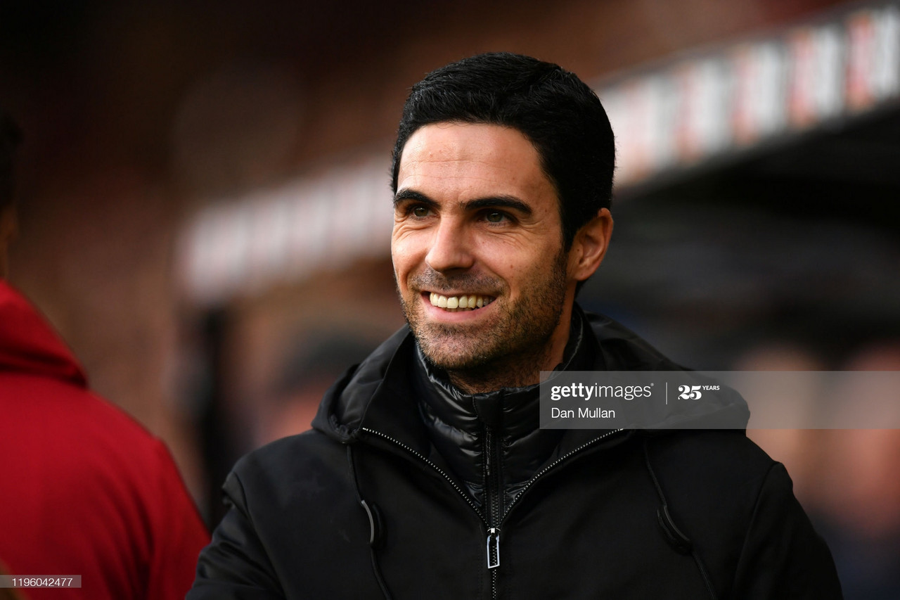 BOURNEMOUTH, ENGLAND - DECEMBER 26: Mikel Arteta, Manager of Arsenal looks on prior to the Premier League match between AFC Bournemouth and Arsenal FC at Vitality Stadium on December 26, 2019 in Bournemouth, United Kingdom. (Photo by Dan Mullan/Getty Images)