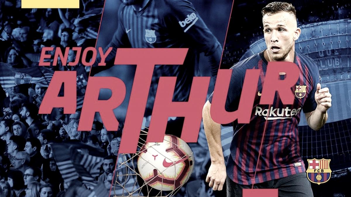 Barcelona anuncia contratação do meia Arthur, ex-Grêmio