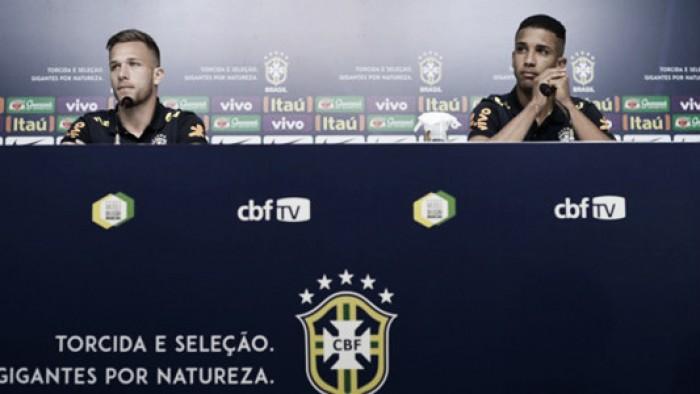 Novatos da Seleção, Jorge e Arthur sonham com vaga na Copa 2018