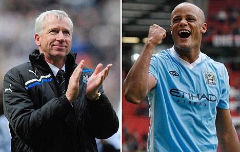 Alan Pardew y Vincent Kompany, entrenador y jugador del año en la Premier