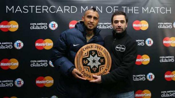Arturo Vidal Named MasterCard Man of the Match Of 2015 Copa America Opening Contest Against Ecuador