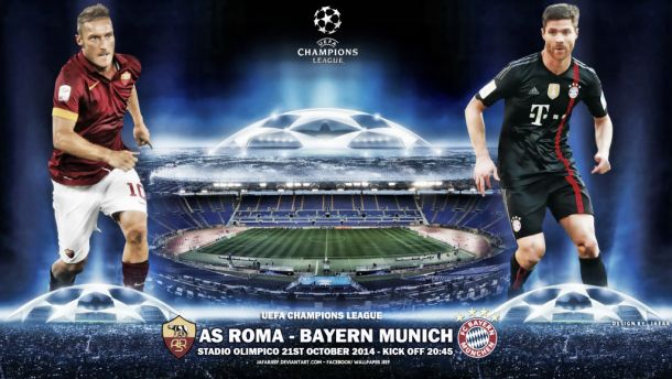 AS Roma vs Bayern Munich: Live Stream and Score Commentary of Champions League 2014
