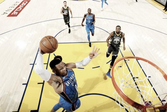 Westbrook brilha e comanda tranquila vitória do Thunder sobre Warriors fora de casa