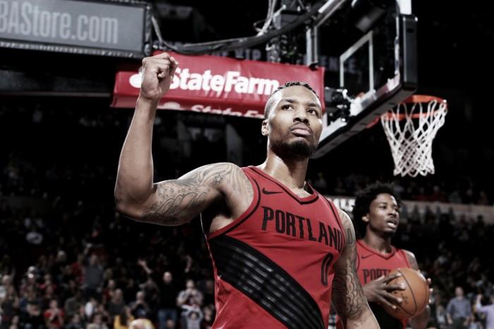 Lillard leva a melhor em grande duelo contra Durant e Blazers derrotam Warriors