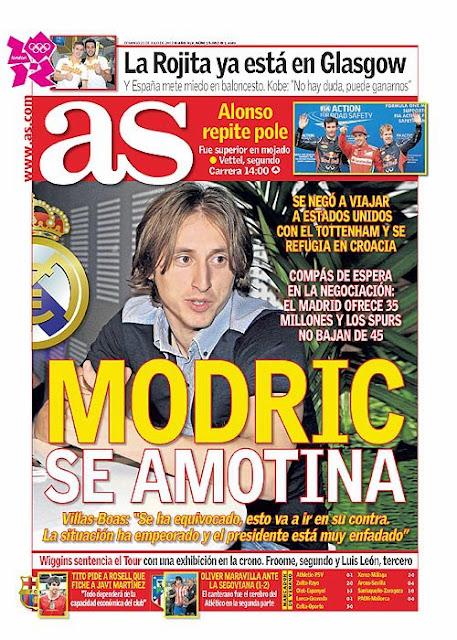 Las portadas del 22 de julio de 2012