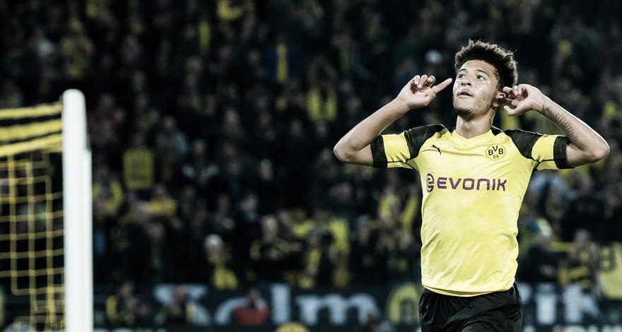 Em boa fase, Jadon Sancho renova com Borussia Dortmund até 2022