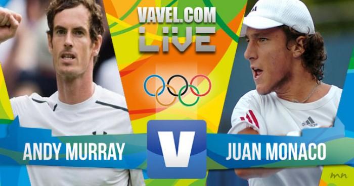 Resultado Andy Murray x Juan Monaco no tênis masculino dos Jogos Olímpicos (2-0)