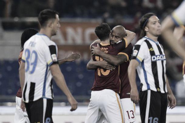 La Roma mette la quinta: 3-1 con l'Udinese