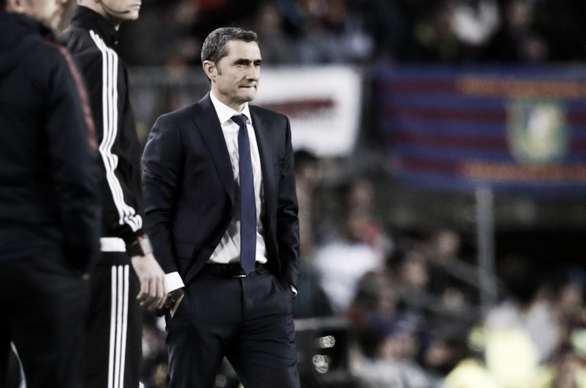 """Ernesto Valverde se rende a Messi após vitória do Barcelona: """"Não cansa de me surpreender"""""""