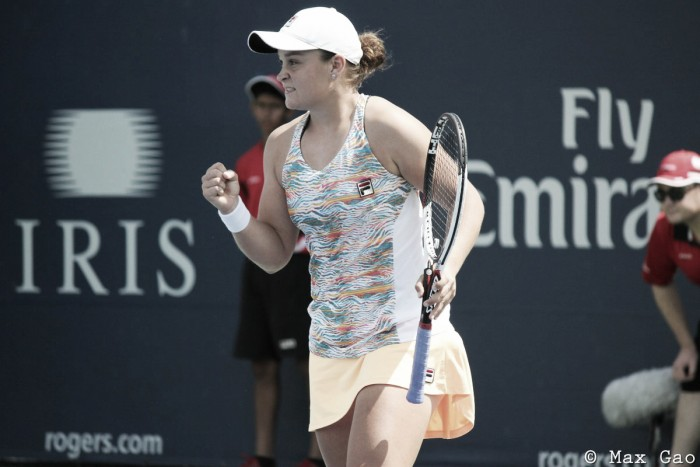 WTA Rogers Cup: Ashleigh Barty upsets Vesnina for a place in the third round